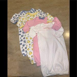 Other - NWOT Newborn Sleeper Long-sleeve Mitt Gown Bundle